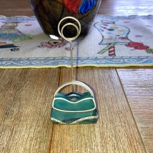 Cute little purse photo holder or note holder